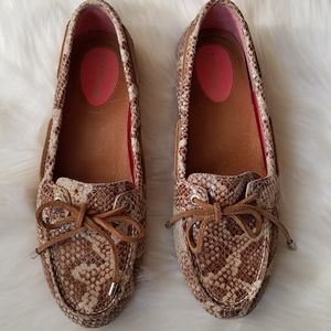 Sperry Top Sider Snakeskin driving tan 8